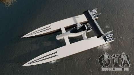 Dragboat Twin V8 para GTA 4 vista direita