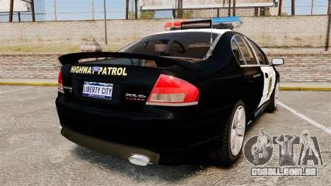 Ford BF Falcon XR6 Turbo LCHP [ELS] para GTA 4 traseira esquerda vista