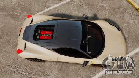Ferrari 458 Italia 2011 para GTA 4 vista direita