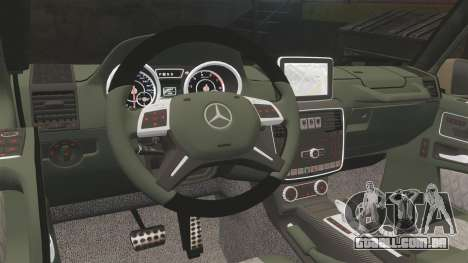 Mercedes-Benz G65 (W463) 2012 AMG para GTA 4 vista interior