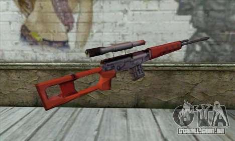 SVD Sniper Rifle para GTA San Andreas segunda tela