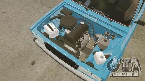 VAZ-2107 para GTA 4 vista de volta