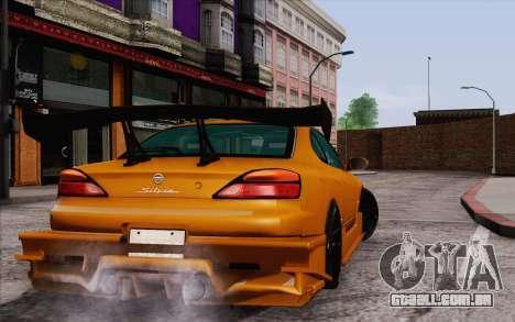 Nissan Silvia S15 GT Uras para GTA San Andreas traseira esquerda vista