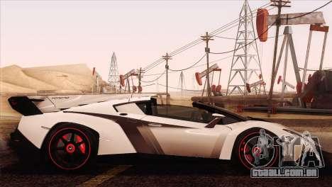 Lamborghini Veneno Roadster LP750-4 2014 para vista lateral GTA San Andreas