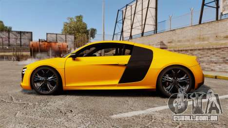 Audi R8 V10 plus Coupe 2014 [EPM] [Update] para GTA 4 esquerda vista