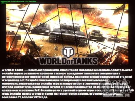 Tela de inicialização do World of Tanks para GTA San Andreas quinto tela