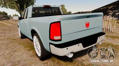 Dodge Ram 3500 Heavy Duty para GTA 4 traseira esquerda vista