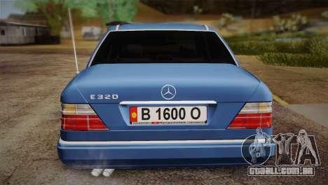 Mercedes-Benz E320 W124 para GTA San Andreas vista traseira