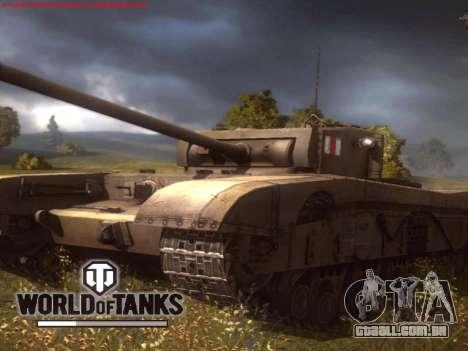 Tela de inicialização do World of Tanks para GTA San Andreas terceira tela