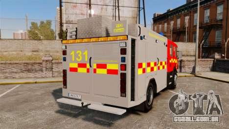 Scania 94D 260 BAS1 Stockholm Fire Brigade [ELS] para GTA 4 traseira esquerda vista