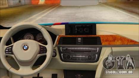 BMW 328d 2014 para GTA San Andreas traseira esquerda vista