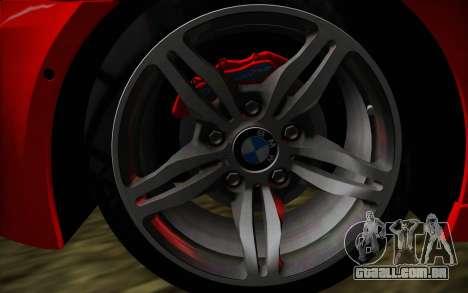 BMW M5 F10 para GTA San Andreas traseira esquerda vista