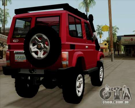 Toyota Land Cruiser Machito 2009 LX para GTA San Andreas vista direita