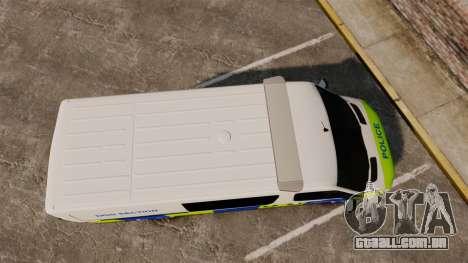Mercedes-Benz Sprinter 211 CDI Police [ELS] para GTA 4 vista direita