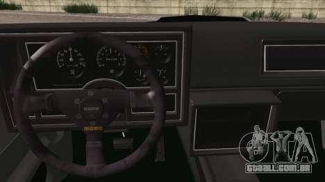 Buick Regal GNX para GTA San Andreas vista direita