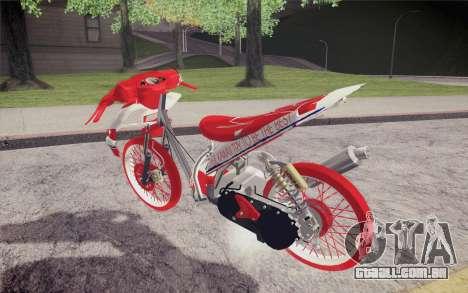 Vario Drag version JKT48 para GTA San Andreas esquerda vista