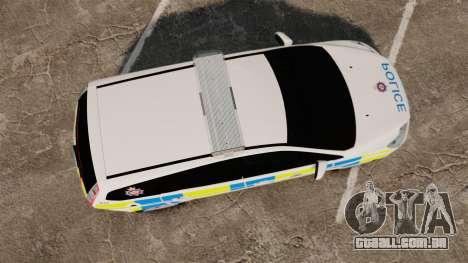 Ford Focus Estate British Police [ELS] para GTA 4 vista direita