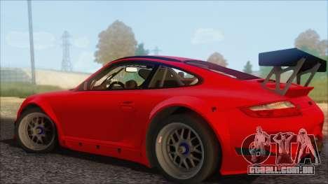 Porsche 911 GT3 RSR para GTA San Andreas esquerda vista