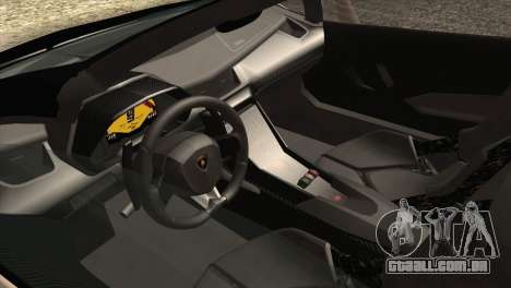 Lamborghini Veneno Roadster LP750-4 2014 para GTA San Andreas vista inferior