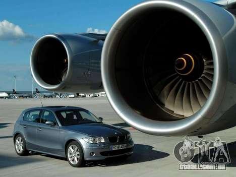 Arranque telas BMW 120i para GTA 4 oitavo tela