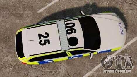 BMW 330d Touring (F31) 2014 Police [ELS] para GTA 4 vista direita
