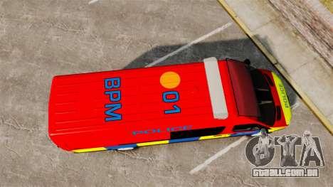 Mercedes-Benz Sprinter 313 CDI Police [ELS] para GTA 4 vista direita
