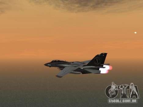 F-14 LQ para GTA San Andreas vista traseira