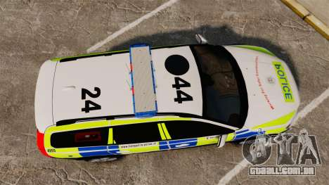 Volvo XC70 2014 Police [ELS] para GTA 4 vista direita