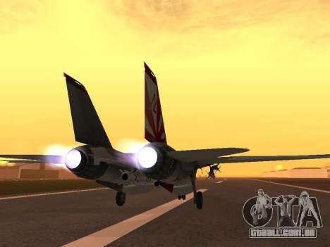 F-14 LQ para GTA San Andreas traseira esquerda vista
