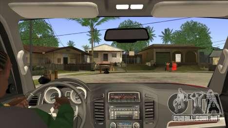 Mitsubishii Pajero IV para GTA San Andreas vista interior