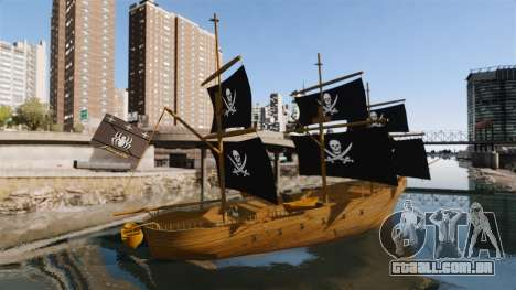 Navio pirata para GTA 4 esquerda vista