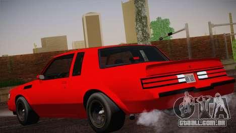 Buick Regal GNX para GTA San Andreas esquerda vista