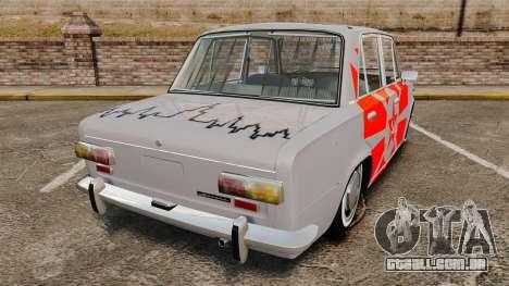 VAZ-Lada 2101 URSS para GTA 4 traseira esquerda vista