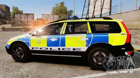 Volvo XC70 2014 Police [ELS] para GTA 4 esquerda vista