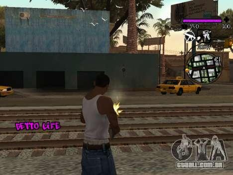 C-HUD Ghetto Life para GTA San Andreas terceira tela