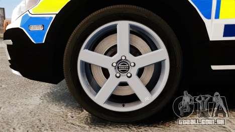 Volvo XC70 2014 Police [ELS] para GTA 4 vista de volta