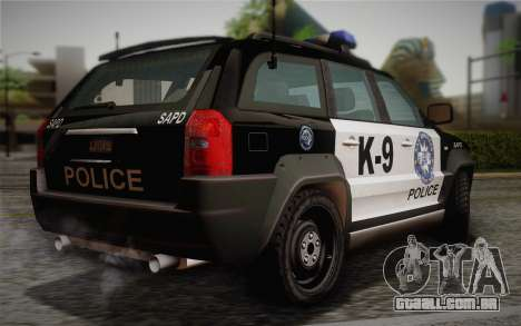 NFS Suv Rhino Light - Police car 2004 para GTA San Andreas esquerda vista