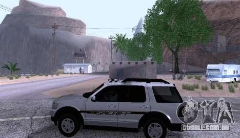 Ford Explorer Sheriff 2010 para GTA San Andreas esquerda vista
