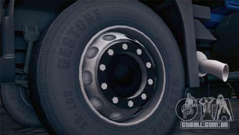 Volvo FM12 8X4 Dumper para GTA San Andreas traseira esquerda vista