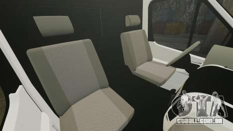 Mercedes-Benz Sprinter 313 CDI Police [ELS] para GTA 4 vista interior
