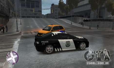 Holden Monaro CV8-R Police para GTA 4 vista direita