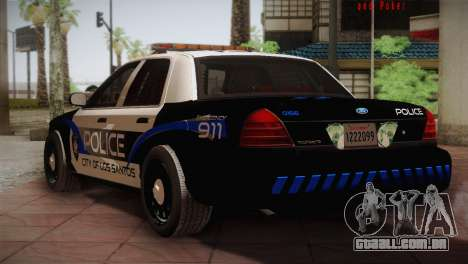 Ford Crown Victoria Police Interceptor 2009 para GTA San Andreas vista direita