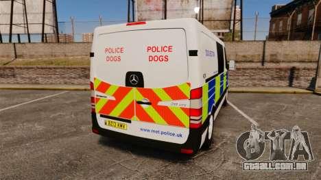 Mercedes-Benz Sprinter 211 CDI Police [ELS] para GTA 4 traseira esquerda vista