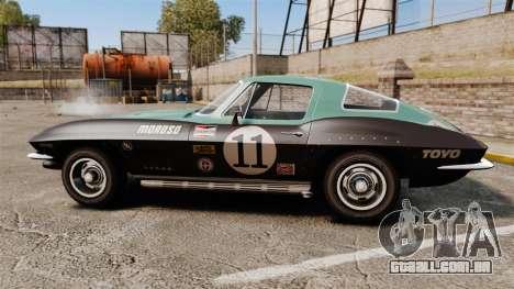 Chevrolet Corvette C2 1967 para GTA 4 esquerda vista