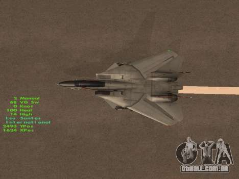 F-14 LQ para GTA San Andreas interior