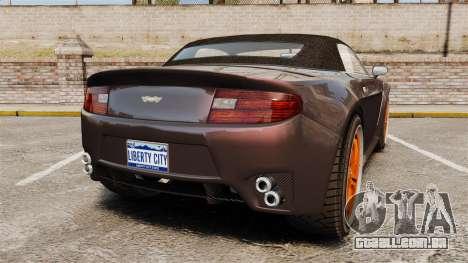 GTA V Dewbauchee Rapid GT para GTA 4 traseira esquerda vista