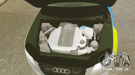 Audi S4 2013 Metropolitan Police [ELS] para GTA 4 vista interior