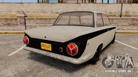 Lotus Cortina 1963 para GTA 4 traseira esquerda vista
