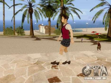 Hanako para GTA San Andreas oitavo tela