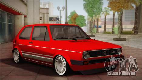 Volkswagen Golf MK1 Red Vintage para GTA San Andreas